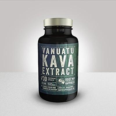 Premium Vanuatu Kava Capsules 250mg Kavalactones 30ct Bottle
