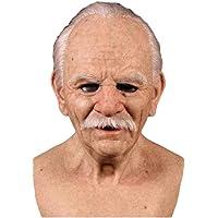 Máscara de Anciano Realista de Halloween, Máscara de Miedo de Halloween, Máscara de látex con Cabeza Completa Máscara de…