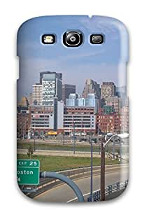 Easter Karida's Shop 1664288K48726280 Awesome Defender Tpu Hard Case Cover For Galaxy S3- Boston City