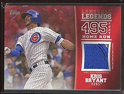 online store ff897 a42fe Amazon.com: Kris Bryant 2018 Topps Longball Legends Relics ...