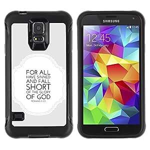 LASTONE PHONE CASE / Suave Silicona Caso Carcasa de Caucho Funda para Samsung Galaxy S5 SM-G900 / BIBLE Romans 3:23 Glory Of The God