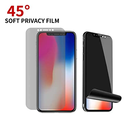 Privacy Screen Protector For Iphone Xs Max Litchi Anti Spy Film Screen Protector With Full Coverage Bubble Free Case Friendly