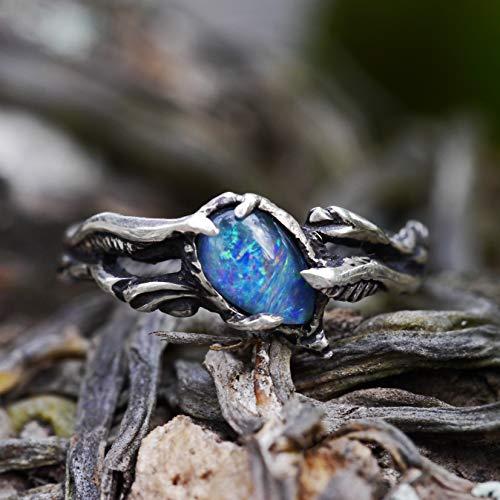 (Boulder Fire Opal Ring
