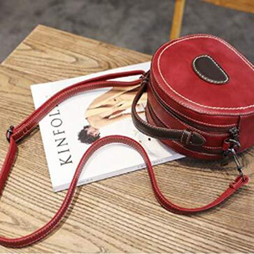 in spalle marrone rosso pelle Klerokoh spalle borsa pendolari colore spalle Borse borse scuola a d17nOdw