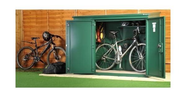 Alta seguridad bicicleta almacen - el edificio anexo para bicicletas de Asgard (embalaje plano): Amazon.es: Deportes y aire libre