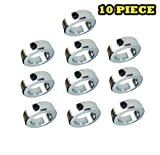 1-3/16'' Bore Solid Steel Zinc Plated Shaft Collars Set Screw Style (10 PCS)