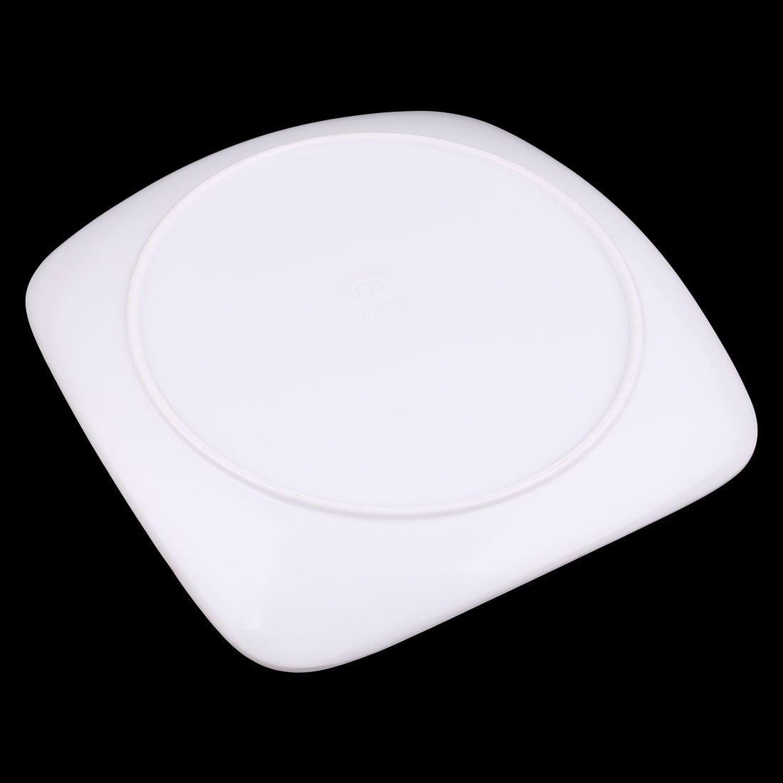 Amazon.com | DealMux melamina Home Kitchen Praça Flor Shaped Food Dessert Plate Bandeja Fuchsia: Accent Plates