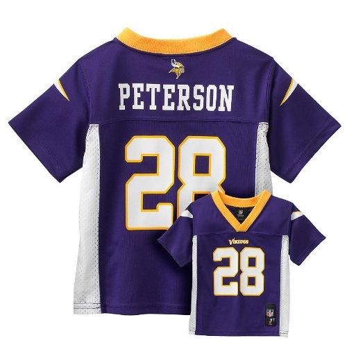 Reebok Adrian Peterson Minnesota Vikings NFL Toddler Purp...