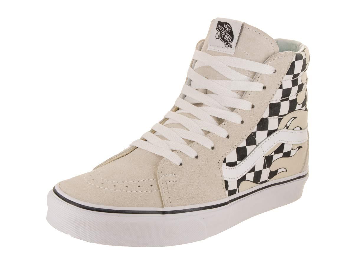 fec743be8c1 Galleon - Vans Unisex Sk8-Hi (Checker Flame) Classic White Skate Shoe 12  Men US