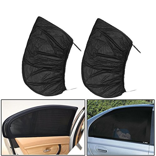 Prat Car Rear Shield Exterior Accessories - 2 Pcs Car Rear Window Shade Cover Kids Baby Shield - Fanny Ass Railcar Posterior Harbour End Arse Motorcar Tail Screen Stern Rump Hind (Shade Franco)