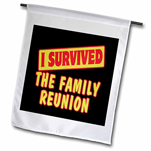 Dooni Designs Survive Sayings - I Survived The Family Reunion Survial Pride And Humor Design - 12 x 18 inch Garden Flag (fl_118334_1) ()