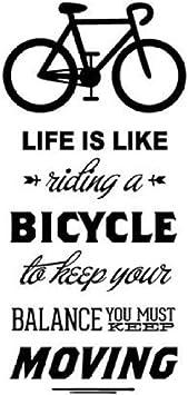 La vida es como montar una bicicleta Cita Bicicleta Etiqueta de la ...