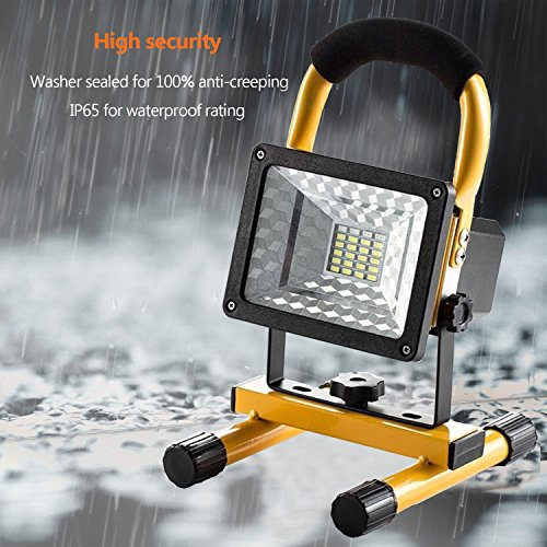 JIN CAN [15W 24LED] Spotlights Work Lights Outdoor Camping Lights, Built-in Rechargeable Lithium Batteries (with USB Ports to Charge Mobile Devices and Special SOS Modes) by JIN CAN (Image #1)