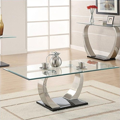 Coaster Shearwater Coffee Table (Large Glass Coffee Table)