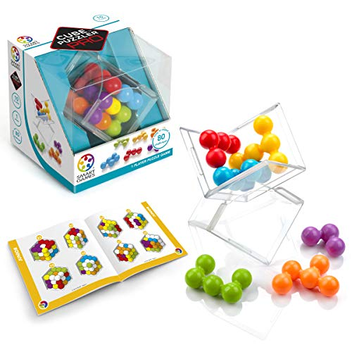 SmartGames Cube Puzzler PRO - 3D STEM Game - Brain Teaser for Ages 10 & Up, 80 Challenges in Portable Display Case. ()