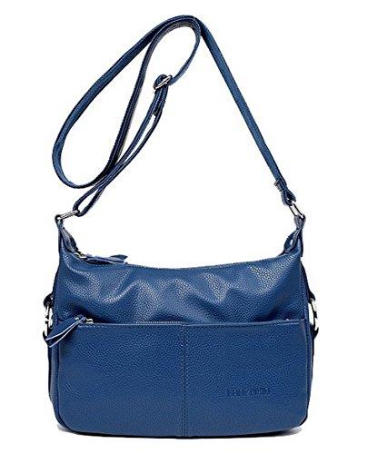 Sacs à bandoulière Noir VogueZone009 Bleu à Sacs Fête Femme CCAFBP181673 Zippers bandoulière Travail qxtOI