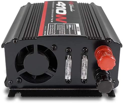 Schumacher XI41B X-Line 410W Power Inverter with Battery Clamps and 12V Male Adapter Plug