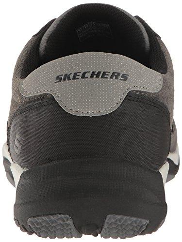 Skechers Usa Mens Larson Nerick Oxford Grigio Scuro Pelle Scamosciata