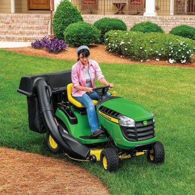 Lawn Tractor Attachments Twin Bagger 42 in. for 100 Series Tractors with Bagging Blades Included, 6.5 Bushel Capacity, Great for Outdoor Use