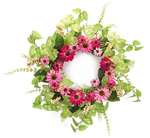 Melrose International Pink Black Eyed Susan Floral Wreath...