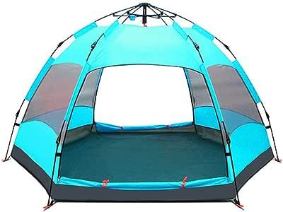 ZSLLO Tienda de campaña automática Al Aire Libre de Dos Habitaciones Una Sala 2-3-4 Personas Grueso a Prueba de Lluvia 5-8 Personas Individual Salvaje Camping (Color : B): Amazon.es: Hogar