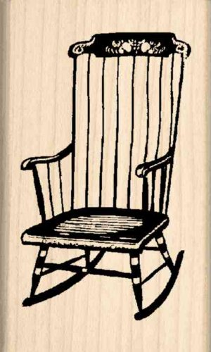 Rocking chair Rubber Stamp – 1-1/2 inches x 2-1/2 inches - Artists Child Rocking Chair