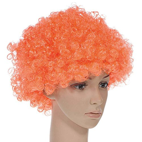 (TXIN Halloween Afro Clown Curly Circus Hair Colorful Halloween Costume Wig 70's 80's Retro Disco)