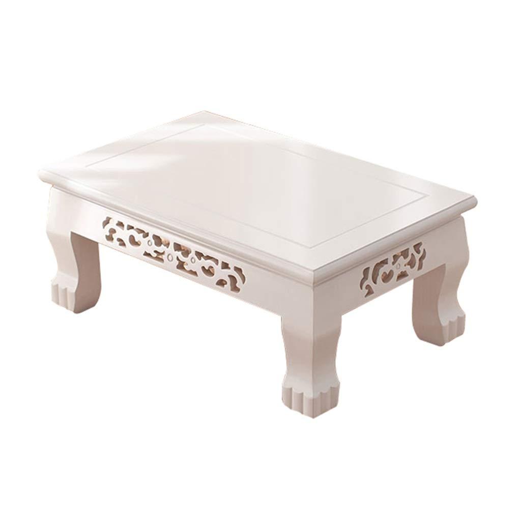 サイドテーブル リビング用ローテーブルシンプルローテーブルホワイトローテーブル畳ローテーブル出窓テーブル木製ローテーブルバルコニー用テーブル コンソールテーブル (Color : 白, Size : 70*45*30cm) B07P68RFC1 白 70*45*30cm