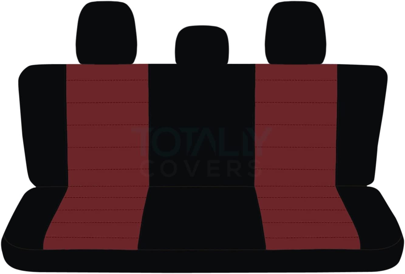 21 Colors w 3 Headrests Rear 60//40 Split Bench F-Series F150 w//wo Center Armrest: Black /& Gray Totally Covers Compatible with 2011-2014 Ford F-150 SuperCab//SuperCrew Two-Tone Truck Seat Covers