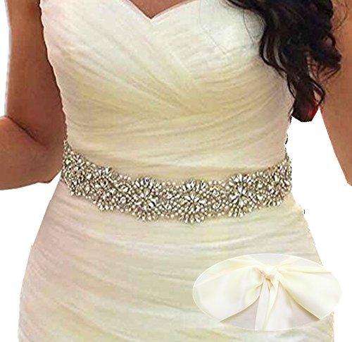 SoarDream Light Ivory Wedding Belt, Bridal Belts and Sashes, Bridal Sash
