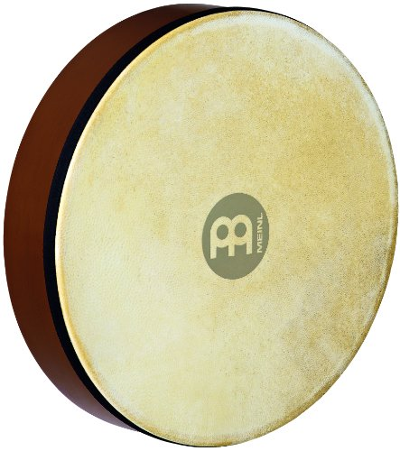 Meinl Percussion HD12AB 12-Inch Rubber Wood Hand Drum With Goat Skin Head, African Brown ()