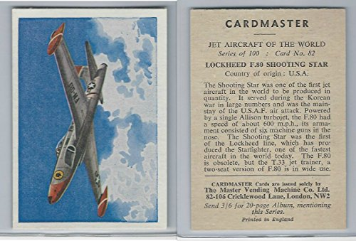 1958 Cardmaster, Jet Aircraft of World, 82