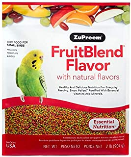 product image for ZuPreem FruitBlend Flavor Pellets Bird Food for Small Birds - Powerful Pellets Made in USA, Naturally Flavored for Parakeets, Budgies, Parrotlets (2 lb Bag (2-Pack))