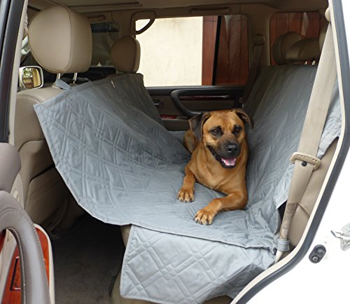 Deluxe Dog Car Seat Hammock Quilted Cover with Non-Slip Backing Best for Cars Trucks and SUVs Make Travel With Your Pet Always an Option - 56