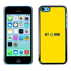 Ihec Tech / GET SHT HECHO - DIVERTIDO / Funda Case back Cover guard for iPhone 5C