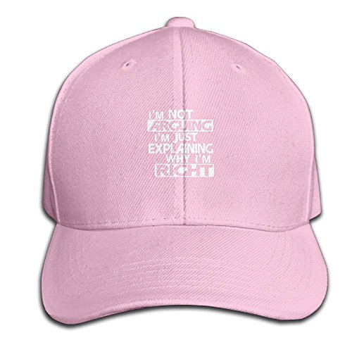 EstherMorrison Im Not Arguing Just Explaining Why Right Easy Adjustable Womans Animal Baseball Cap Polo Style Low Profile Gifts Adults Pink Animal Rights Womens Cap