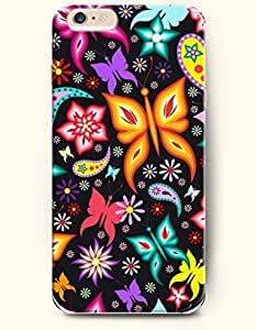 New Case Cover For Apple Iphone 4/4S Hard Case Cover - Mulitcolored Butterflies and Flowers