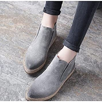 adc08d218cf94 ZHZNVX HSXZ Women s Shoes PU Winter Fall Comfort Boots Flat Pointed Toe  Booties Ankle Boots
