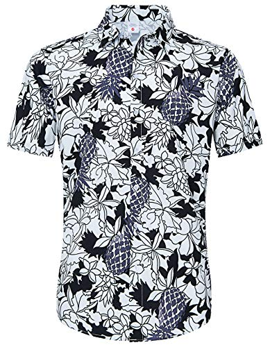 Animal Adult Black T-shirt - Button Down Up Shirts for Youth Man Teens Boy 3D Print Tie Dye White Black Floral Flower V Neck Collared Fun Hawaii Under Tshirts Women's Tops Blouse for Young Swim Surfing Fish Club Casual Clothing