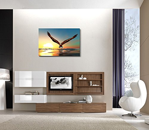 Bald Eagle Flying Above The Sea Wall Decor ation