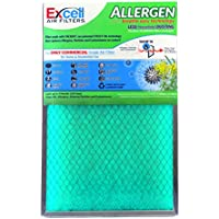 Air Filter - Allergen / Tackifier Green Filter - The ONLY Commercial Grade Air Filter for Home and Residential Use - Measures 14x20x1