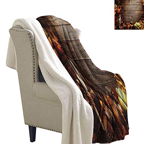 AndyTours Baby Blanket Thanksgiving Special Family Dinner Upgraded Thick Lazy Blanket Blanket W59 x L47 -