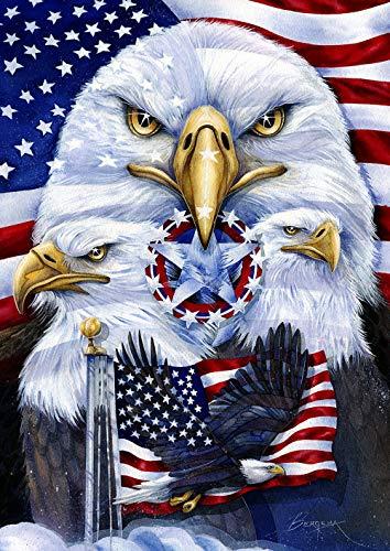 Toland Home Garden 1012377 Patriotic Eagles 28 x 40 Inch Decorative, House Flag (28