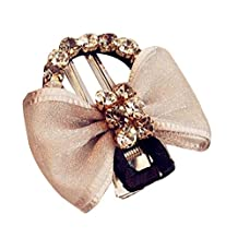 Stylish Hairpin Side Folder Diamond Hairpin Hair Accessories Gray