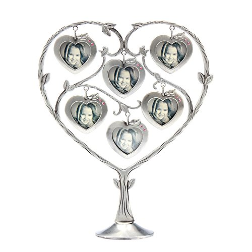 Abbie Home Heart Shaped 6 Hanging Photo Frame Vintage Picture Family Tree