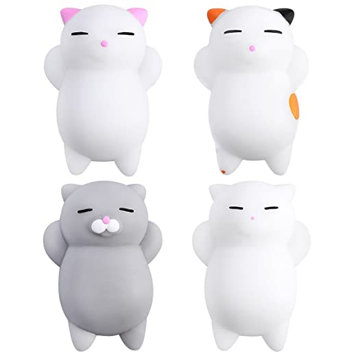 Amaza 36Pcs Squishys Kawaii Juguetes Pegajosos Oso Panda Gato de Silicona Animales Squishies