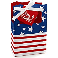 Stars & Stripes - 2018 Elections USA Patriotic Party Favor Boxes - Set of 12