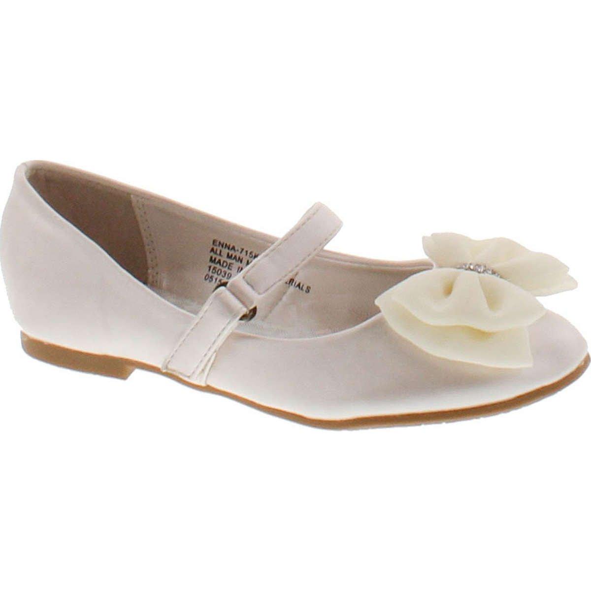 Little Angel Girls Flats Shoes,Ivory,10