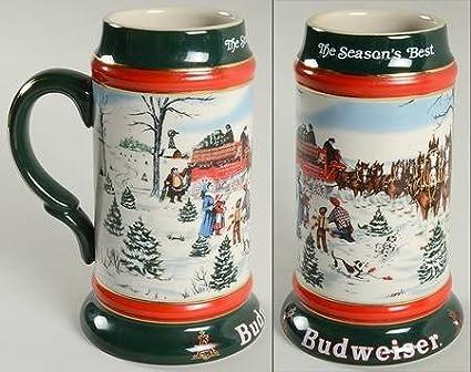 anheuser busch anheuser busch christmas stein no box collectible 949691 - Budweiser Christmas Steins