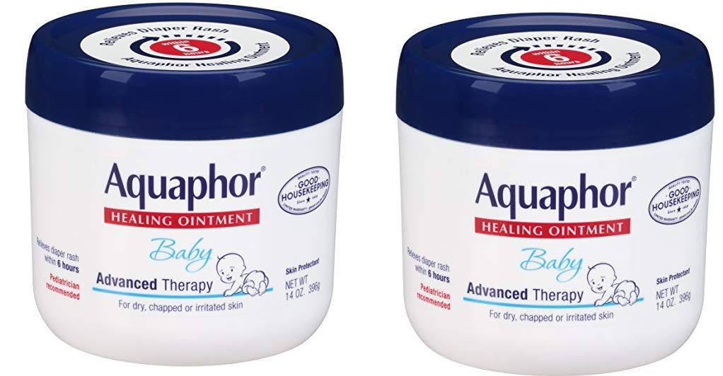 Aquaphor Baby Healing Ointment - Advance Therapy for Diaper Rash, Chapped Cheeks and Minor Scrapes - 14. oz Jar by Aquaphor